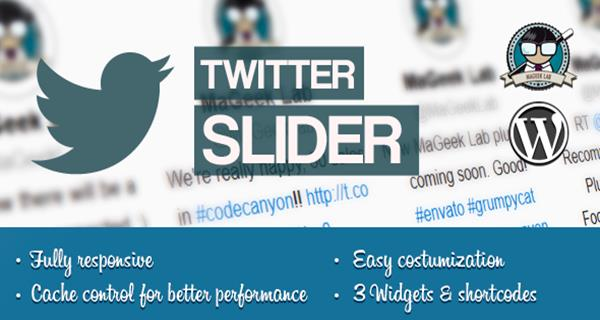 Twitter Slider & User Card for WordPress