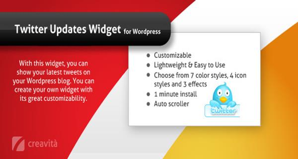 Twitter Updates Widget for WordPress