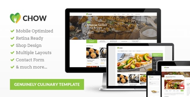 10 best premium food and recipe html templates chow is a beautifully crafted html template thats perfect for culinary websites it allows you to share all your recipes and cooking tips with your forumfinder Choice Image