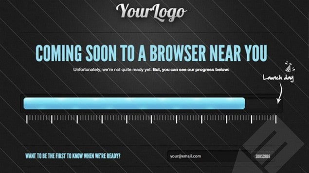 7 - HTML5 Coming Soon Template