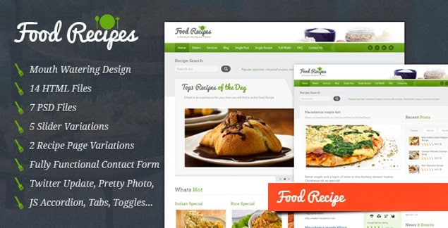 10 best premium food and recipe html templates 9 food recipes forumfinder Choice Image