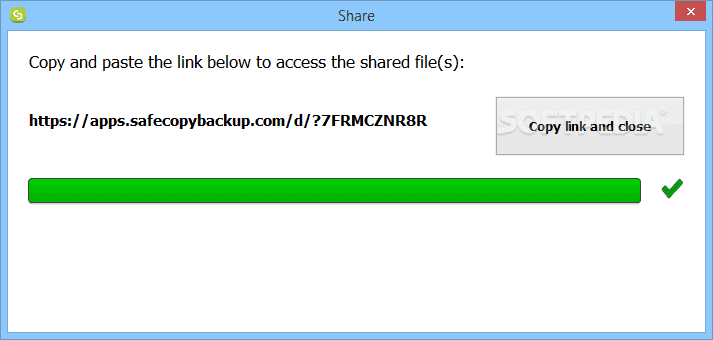 SAFECOPY SHAREDLINK
