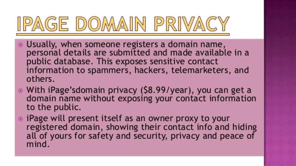ipage-domain-privacy