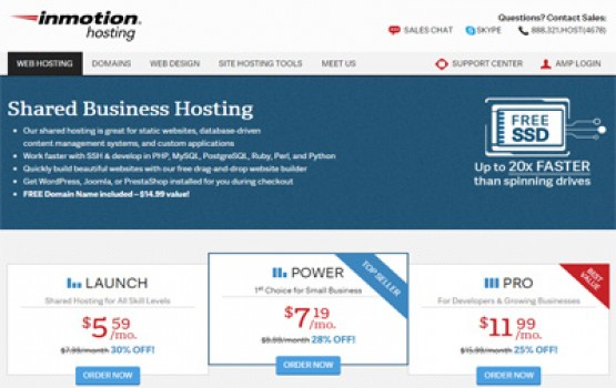 InMotion-Shared-Business-Hosting