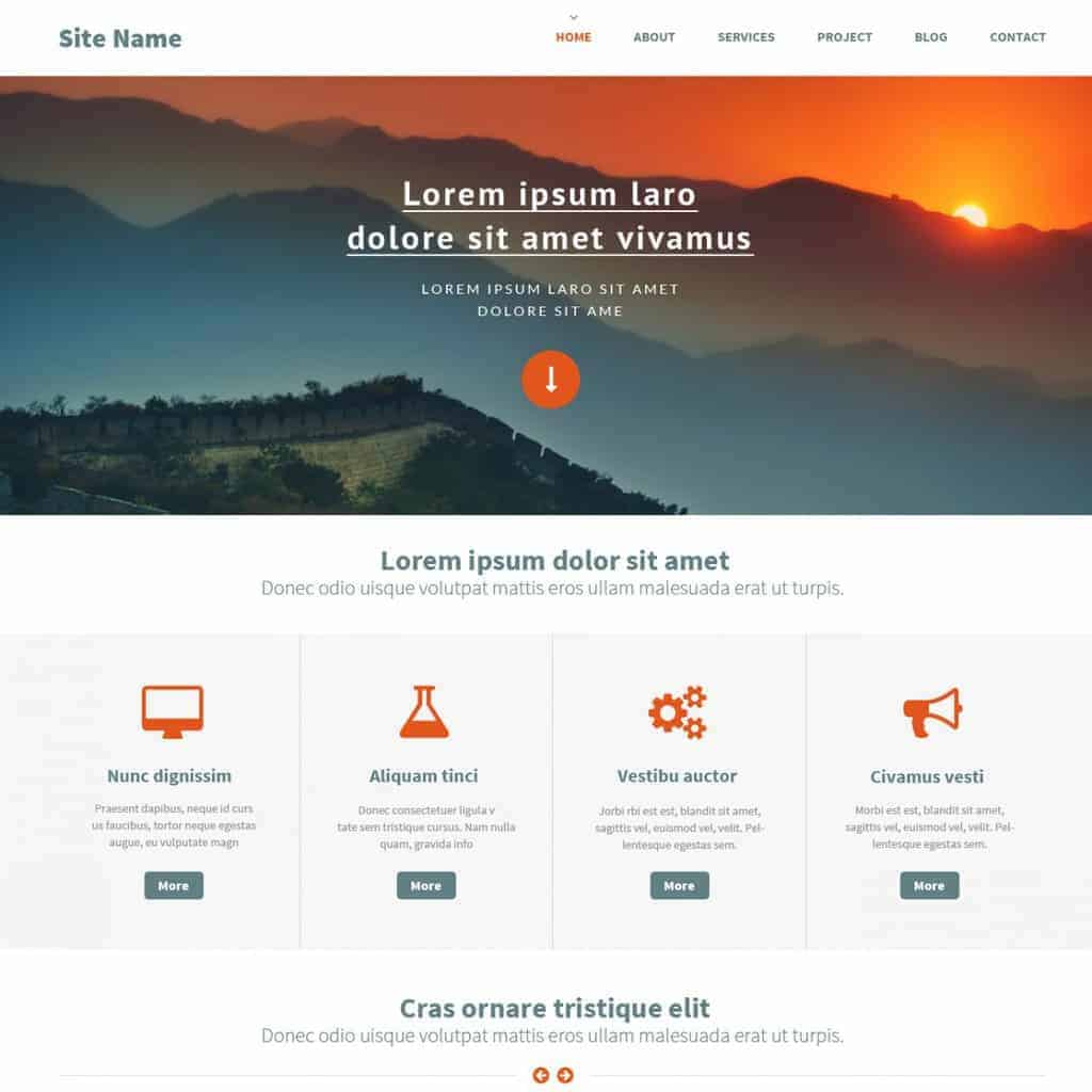 top ten newest free website template