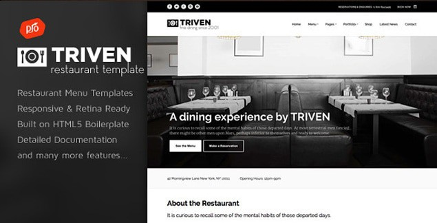Superbe Triven Is A Feature Rich, Fully Customizable Premium HTML Template Thatu0027s  Ideal For Wineries And Restaurants. It Has A Responsive Layout And  Unlimited Color ...