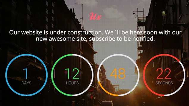 ux responsive coming soon countdown template v2