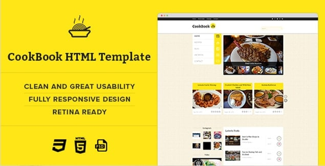 4 - cookbook Html Template