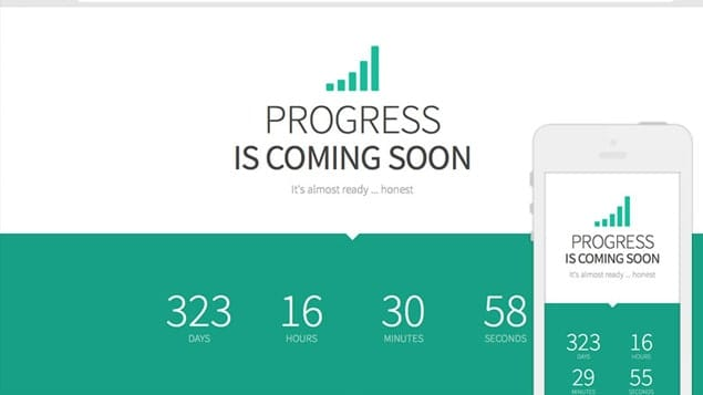 progress is a fully responsive free coming soon template with a jquery countdown ticker and scrollspy to initiate css fading animations on scroll