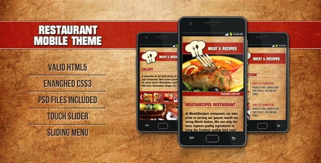 10 best premium food and recipe html templates