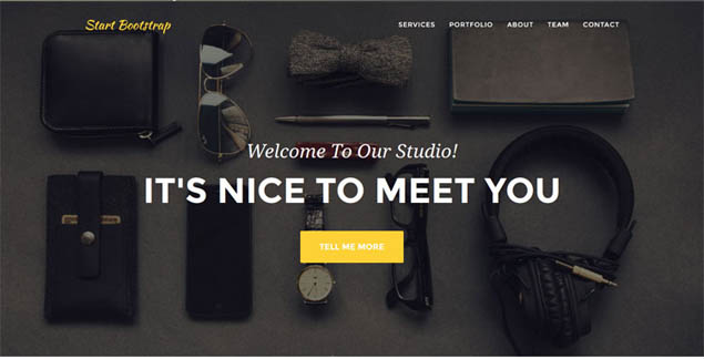 10 Fresh Free Bootstrap Templates This March 2015