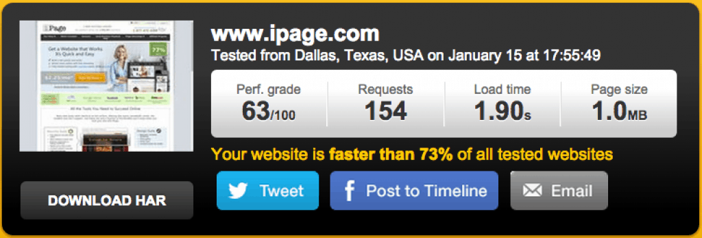 iPage-Speed-Test